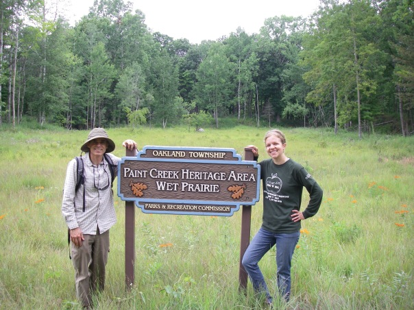 Mark and Debbie, volunteers at our July workday at the Wet Prairie
