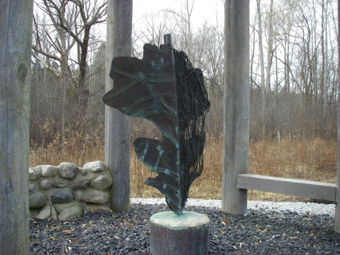 """On Prairie,"" the art installation on the Paint Creek Trail just north of Gallagher Rd."