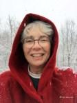 Cam in red winter coat BC