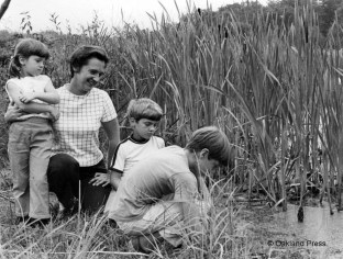 The Tomboulian family explores the area that is now Bear Creek Nature Park in the late 1960's. (Photo from the Pontiac Press, now the Oakland Press)