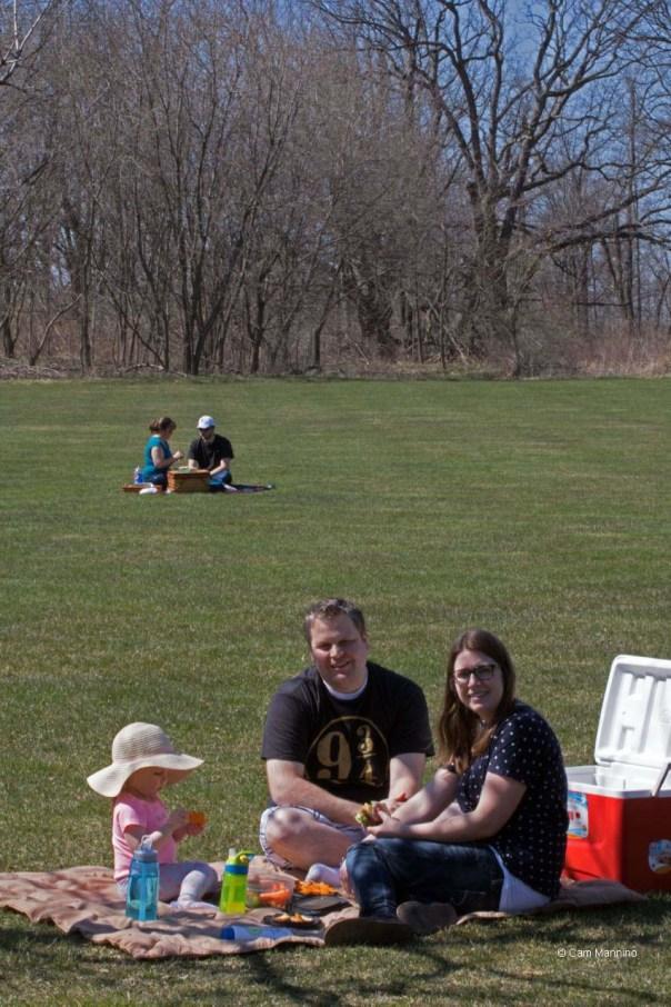 Families picnicking BC