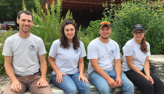 2016 Stewardship Crew (L-R): Ben, Heather, Zach, and Andrea