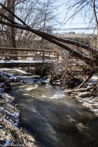 Bear Creek behind church BC