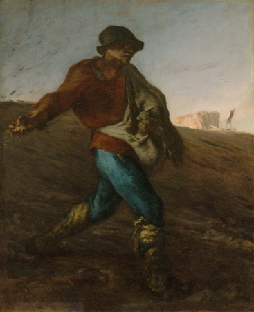 The Sower (1850) by Jean-François Millet [Public domain or Public domain], via Wikimedia Commons