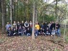 FCA volunteers cleared invasive glossy buckthorn at Bear Creek Nature Park on October 19, 2018.