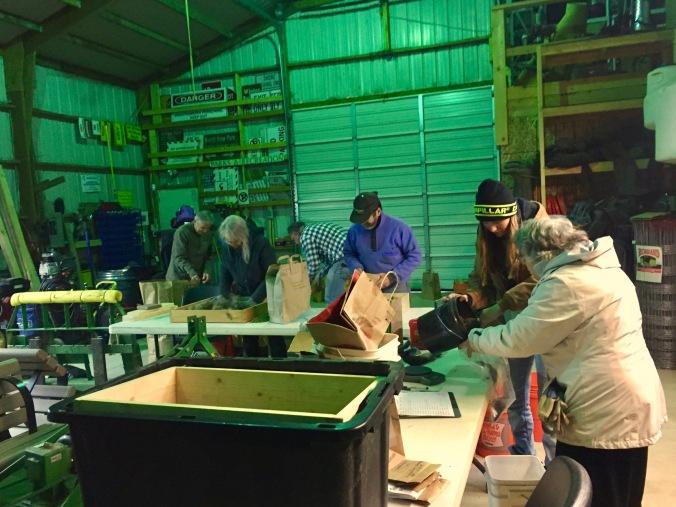 Volunteers Seed Cleaning