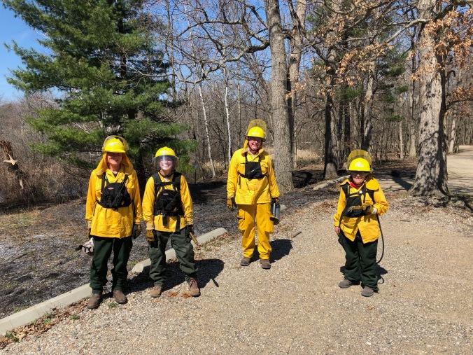 New volunteer fire crew members