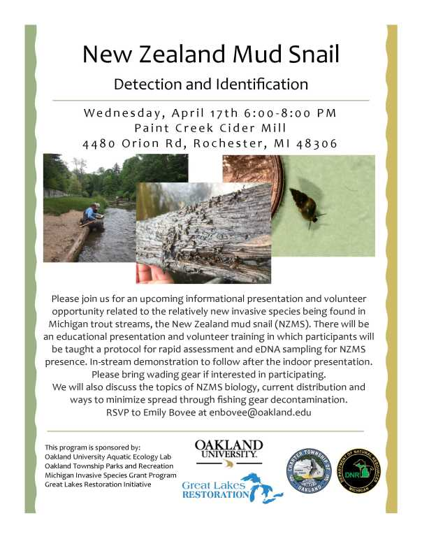 Oakland Township Training Flyer